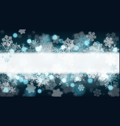 Background of snowflakes with stripe for vector