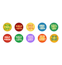 balls with promotional offers seasonal sale vector image