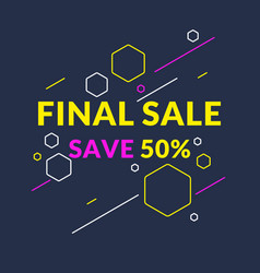 Best sale banner original poster for discount vector