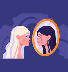 Bipolar disorder concept vector