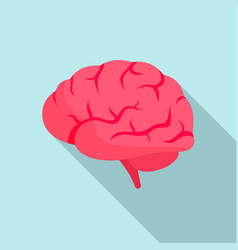 Brain power icon flat style vector