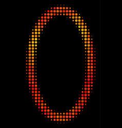 Bright dotted contour ellipse icon vector