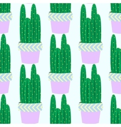 Cactus pattern background vector