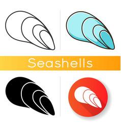 cephalopod shell icon vector image