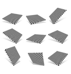 Checkered planes set vector