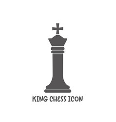 Chess king piece icon simple flat style vector