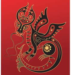 Chinese horoscope year dragon vector