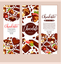 Chocolate bar cakes and candies confectionery vector