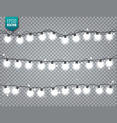 christmas festive lights decorative glowing vector image