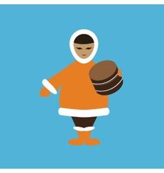 chukcha eskimo vector image