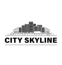 city skyline set vector image
