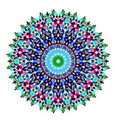Colorful flower mandala ornament - circular vector