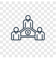 community concept linear icon isolated on vector image