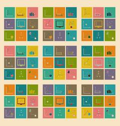 Concept stylish flat design icons graph vector