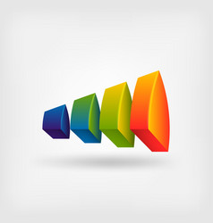 creative multicolor abstract symbol design vector image