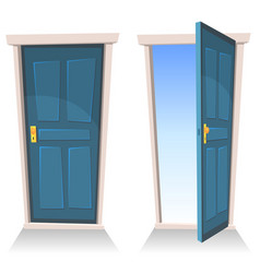 Doors closed and open vector