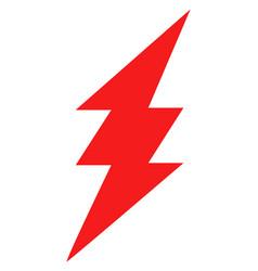 Electric spark flat icon symbol vector