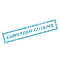 European Cuisine Rubber Stamp vector image