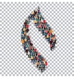 Flame symbol people 3d vector