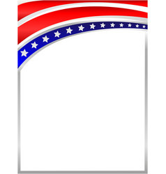 Frame with an abstraction of the us flag vector