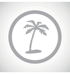 Grey vacation sign icon vector image