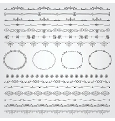 Hand Drawn Borders and Frames vector image