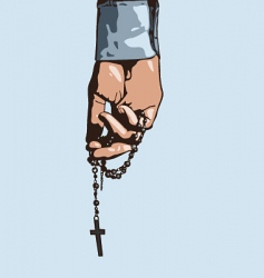 hand holding cross vector image