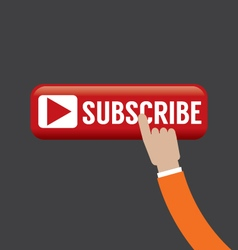 Hand On Subscribe Button vector image
