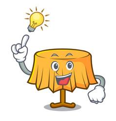 Have an idea table cloth mascot cartoon vector