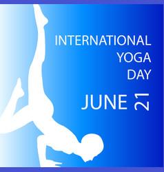International yoga day june 21 vector