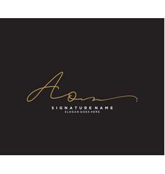 Letter ao signature logo template vector