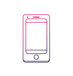 line technology smartphone to electronic vector image
