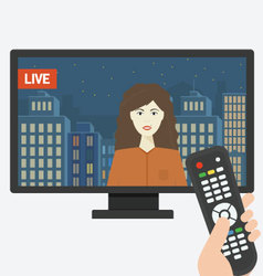 Live TV Show vector image