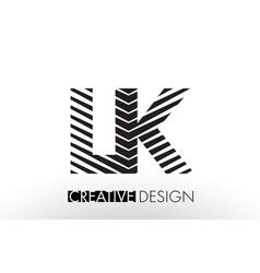 Lk l k lines letter design with creative elegant vector