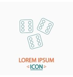 Lucky computer symbol vector