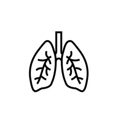 lung human line icon respiratory system healthy vector image