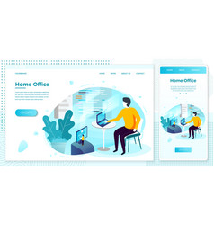 man working with code set vector image