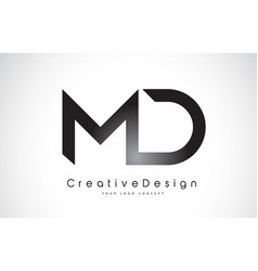 Md m d letter logo design creative icon modern vector