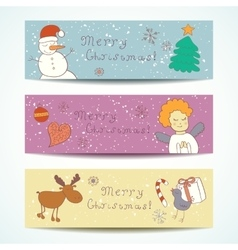 Merry Christmas Happy companions banner vector image
