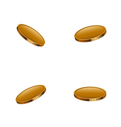 modern falling gold money set background vector image