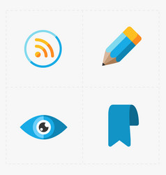 modern flat social icons set on white vector image