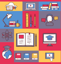 online education collage vector image