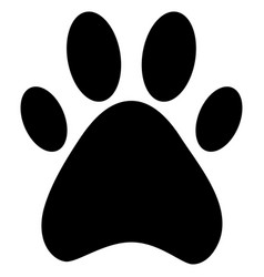 Paw dog vector