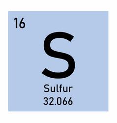 Periodic table element sulfur vector