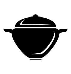 Pot with lid icon simple style vector image vector image