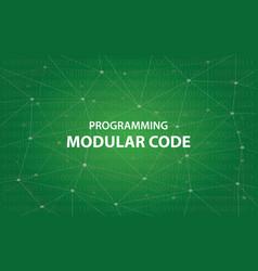 programming modular code concept vector image