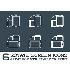 Rotate smartphone or cellular phone or tablet vector