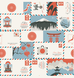 Seamless pattern on theme japan vector
