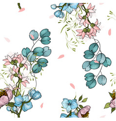set seamless floral ornament for fashion vector image