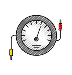 Speedometer icon counter electric cable test vector